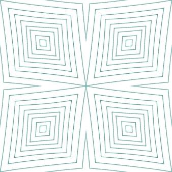 メダリオンシームレスパターン。ターコイズ対称の万華鏡の背景。テキスタイルレディアライブプリント、水着生地、壁紙、ラッピング。水彩メダリオンシームレスタイル。