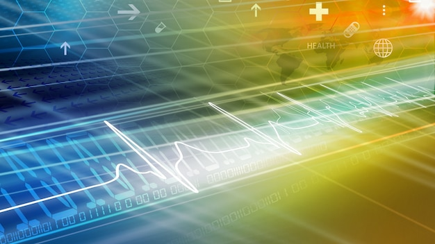 Medical abstract news background