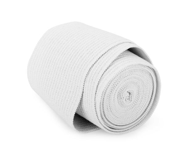 白い背景で隔離の医療包帯ロール