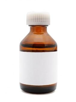 Medical bottle isolated on white
