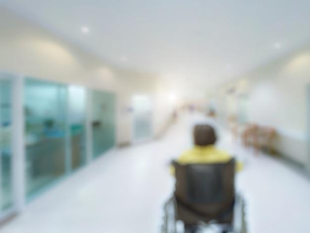 Медицинская клиника размытие фона больничный центр обслуживания в палате пациента размытый перспективный вид коридора лаборатории, вестибюля или прохода для медсестер услуги здравоохранения