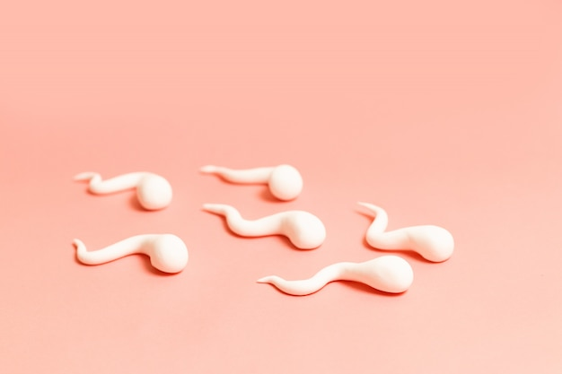 Medical concept. the figure of human sperm