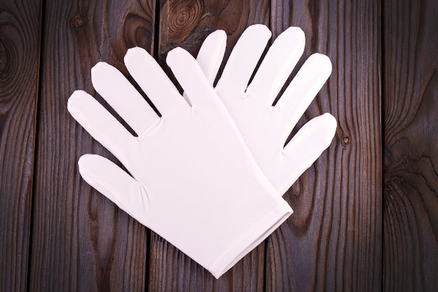 Medical cosmetic cotton white gloves