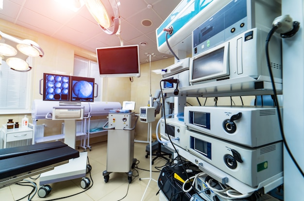 Medical devices, interior hospital design concept.
