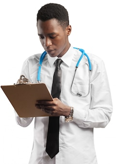 Medical doctor man isolated white