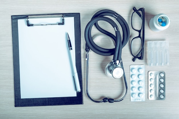Medical equipment with copy space