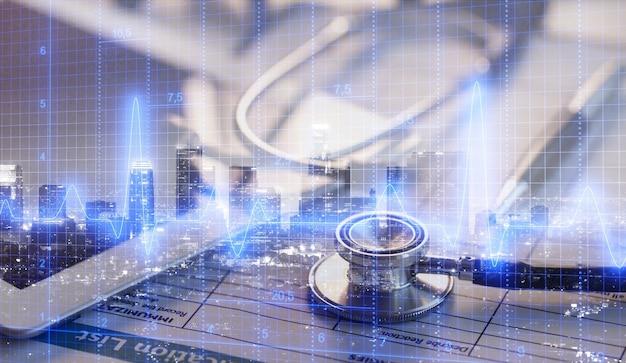 Медицинское обследование и график бизнеса здравоохранения