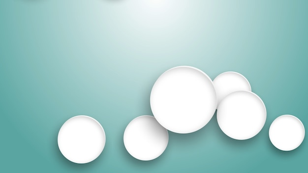 파란색 배경에 흰색 원 안에 의료 아이콘, 콘텐츠를 위한 원 공간