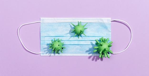 Medical mas with bacteria virus