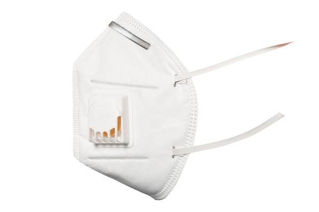 Medical mask 3m with a valve that protects against viruses in a coronavirus pandemic