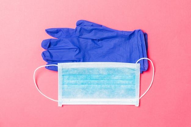 Medical mask and nitrile gloves