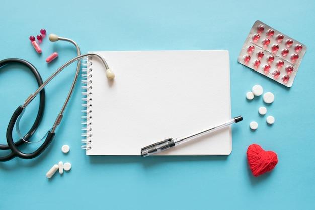 Medical mockup with stethoscope