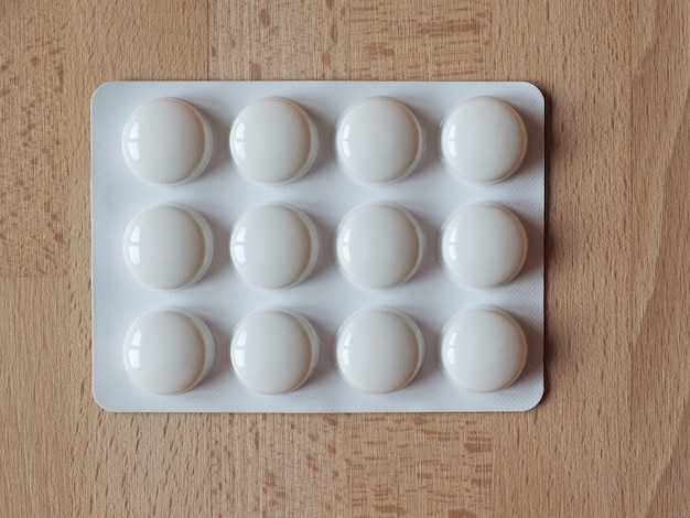 테이블에 의료 약
