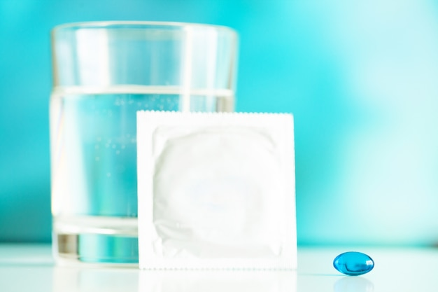 Medical potency pills for sexual health in capsules.