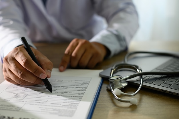 Medical records patient information medical technology concept
