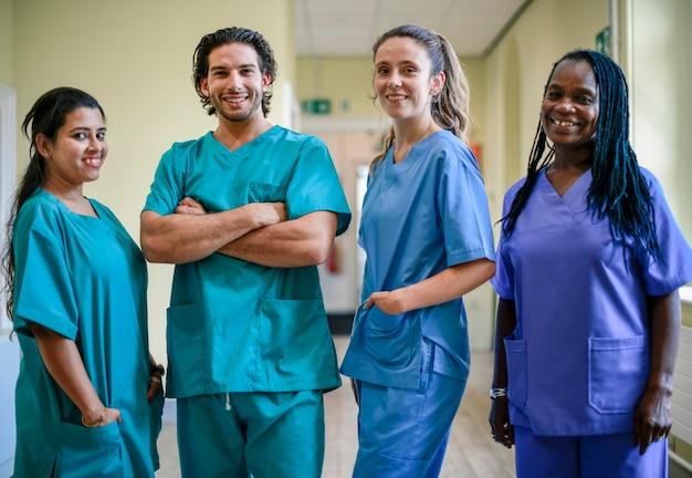 병원에서 의료 팀