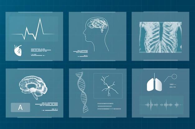건강과 웰빙을위한 의료 기술 세트