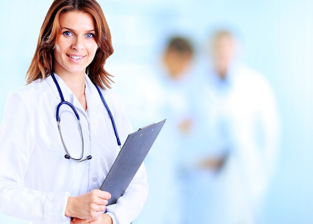 병원에서 의료 여자 의사