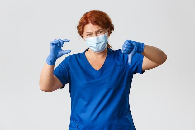 医療従事者、covid-19パンデミック、コロナウイルスのコンセプト。