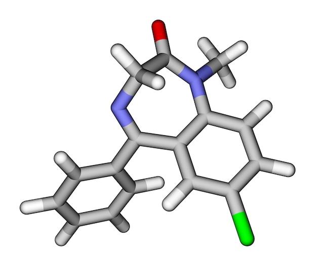 Молекулярная модель лекарств диазепамовые палочки