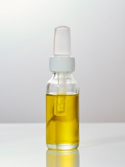 Medicinal cannabis cbd, thc oil bottle