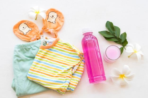 子供服を掃除する薬液