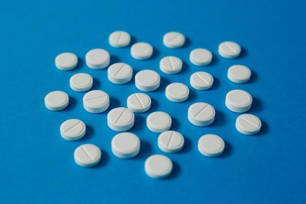 医学と健康、錠剤、側面図