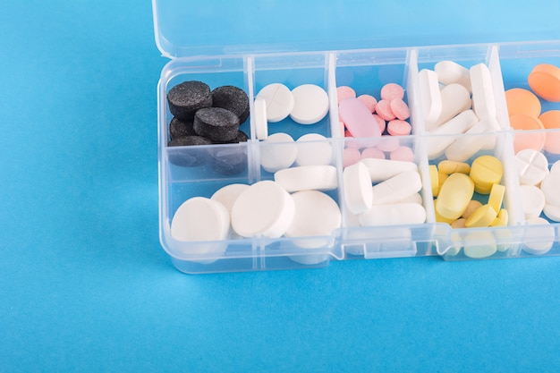 Medicine box with pills