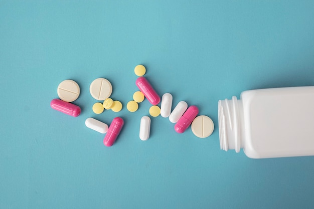 Medicine capsule, tablets and pill. pharmacy concept, healthcare concept