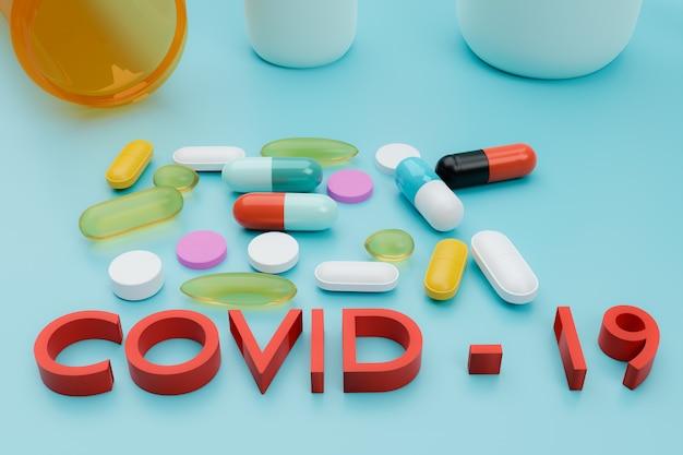 Medicine drug treatment coronavirus covid-19 concept