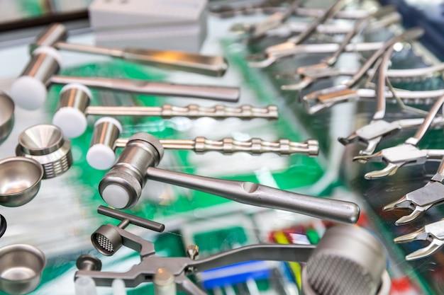 医療機器、歯科用ツールのクローズアップ