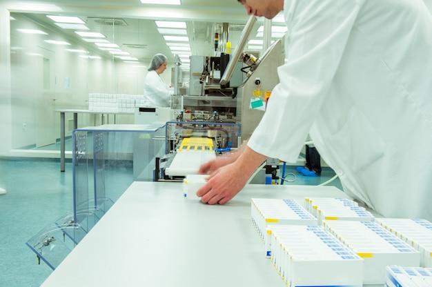 Medicine factory worker or operator