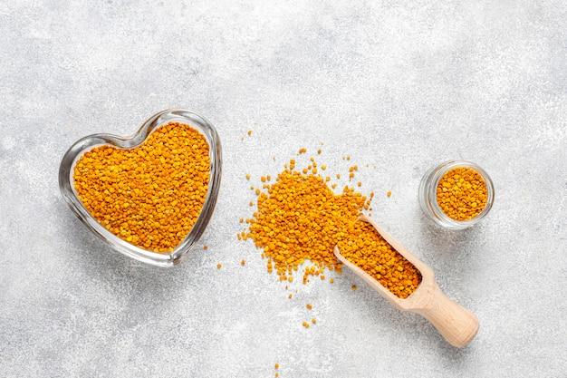 Polline d'api di medicina alimentare.