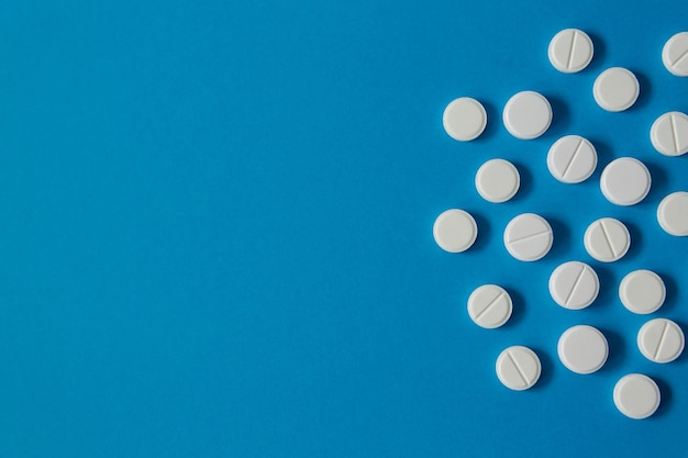 Medicine and health white pills