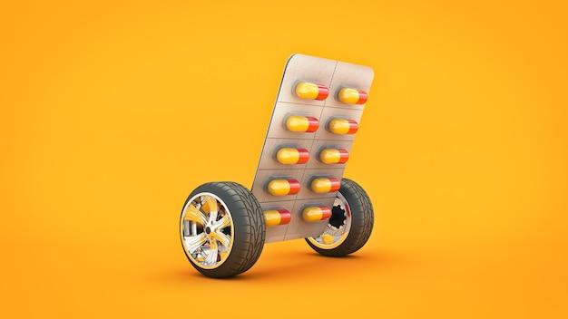Концепция таблетки медицины 3d-рендеринга