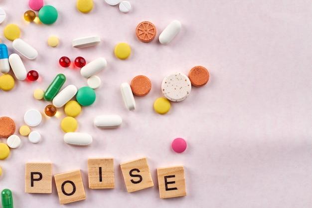 Таблетки уравновешивания медицины.