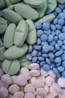 Medicines concept. drugs, painkillers, colds and other