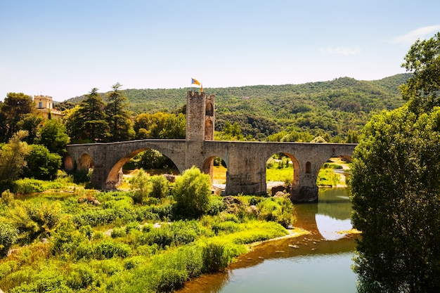 Medieval bridge. besalu,