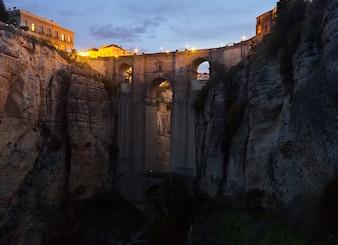 Medieval bridge in early morning at Ronda