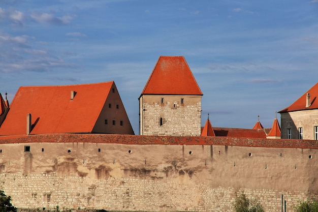The medieval castle in bavaria germany