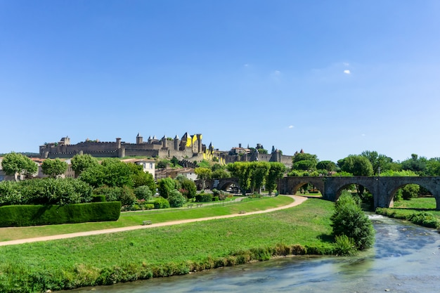 Medieval fortified city of carcassonne, france