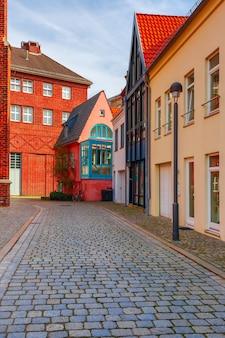 독일 브레멘의 중세 거리 슈누어