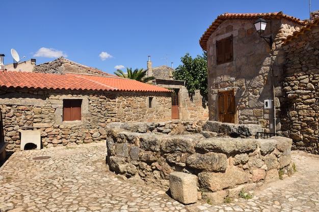 중세 마을 castelo bom, guarda 지구, portuga