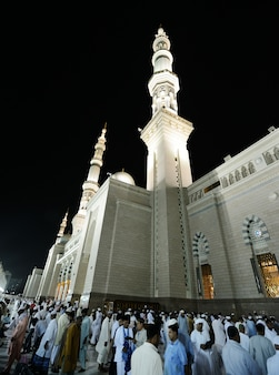 Medina mosque at night
