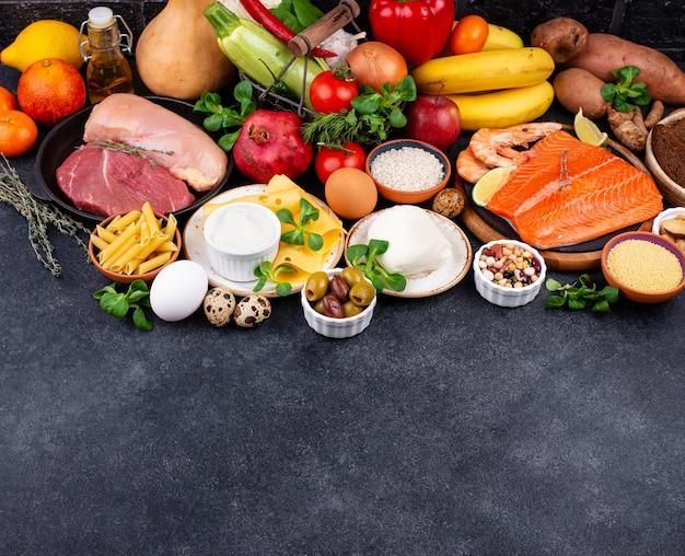 地中海式ダイエット健康的なバランスの取れた食品