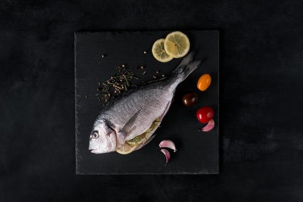 Mediterranean fish - dorado and vegetables