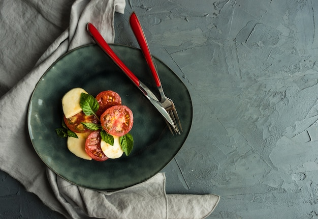 Mediterranean italian caprese salad