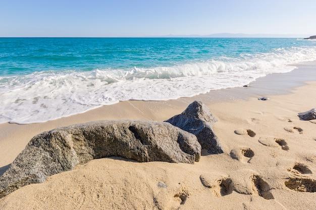 지중해 바다, 푸른 바다, 해안 바위