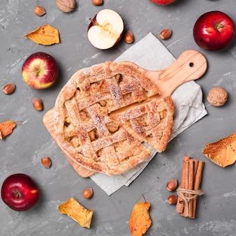 Medium shot of appetizing pie
