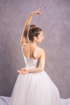 Medium shot back view ballerina